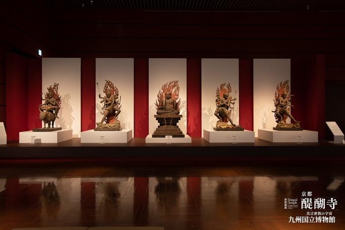 九国博の醍醐寺展で展示された五大尊像の写真