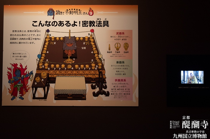 九国博の醍醐寺展の独自の説明文が書かれている写真
